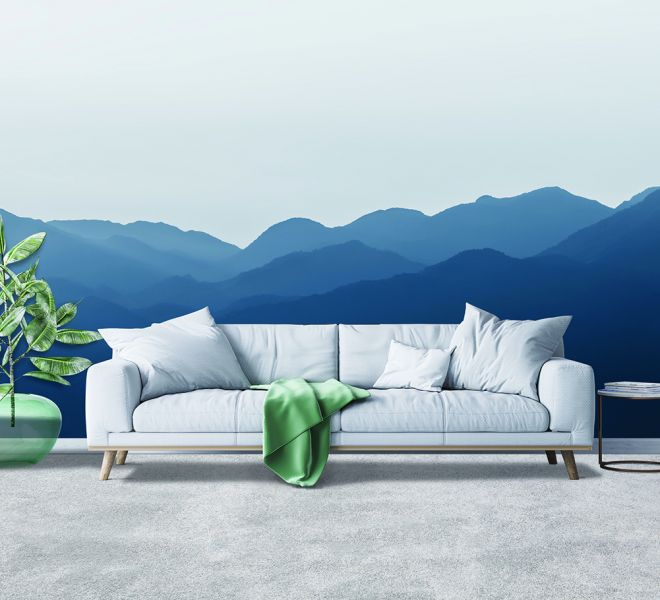 interior house with simple white background mock up. grey velvet